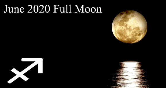 June 2020 Full Moon in Sagittarius and Lunar Eclipse