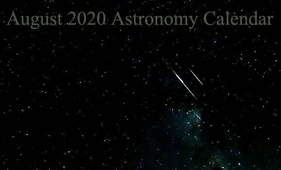 August 2020 Astronomy Calendar