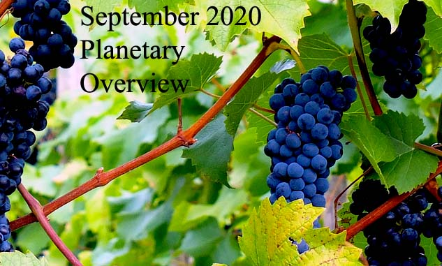 September 2020 Planetary Overview – Major Astrological Aspects and Transits