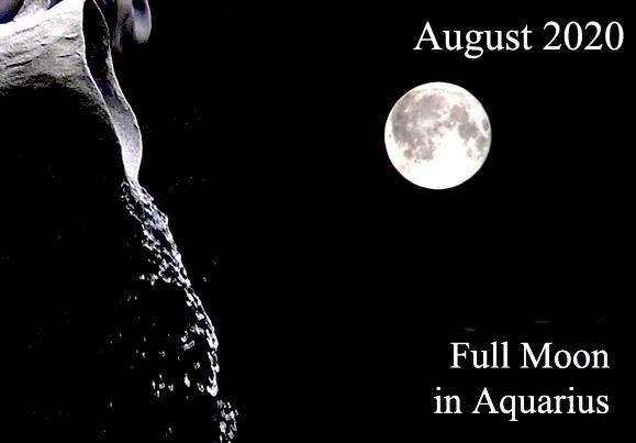 3rd August 2020 Full Moon in Aquarius