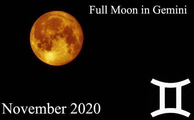 30th November Full Moon in Gemini and Lunar Eclipse