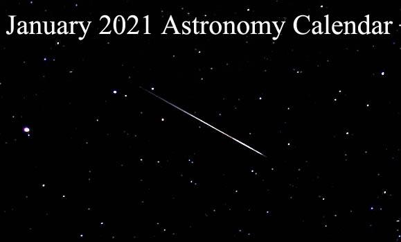 January 2021 Astronomy Calendar – Celestial Events