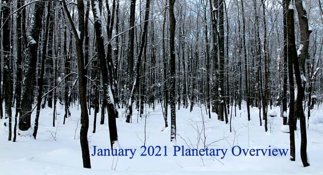 January 2021 Planetary Overview – Major Astrological Aspects and Transits