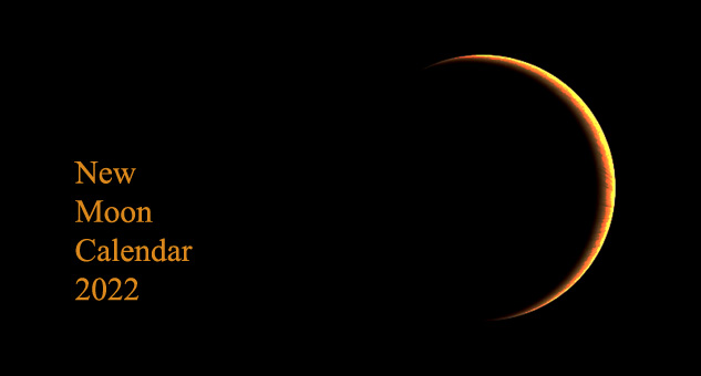 2022 New Moon Calendar and Solar Eclipses